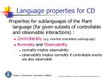 language properties for cd