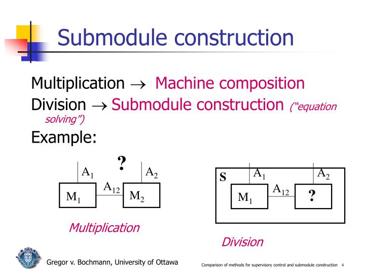 Submodule construction