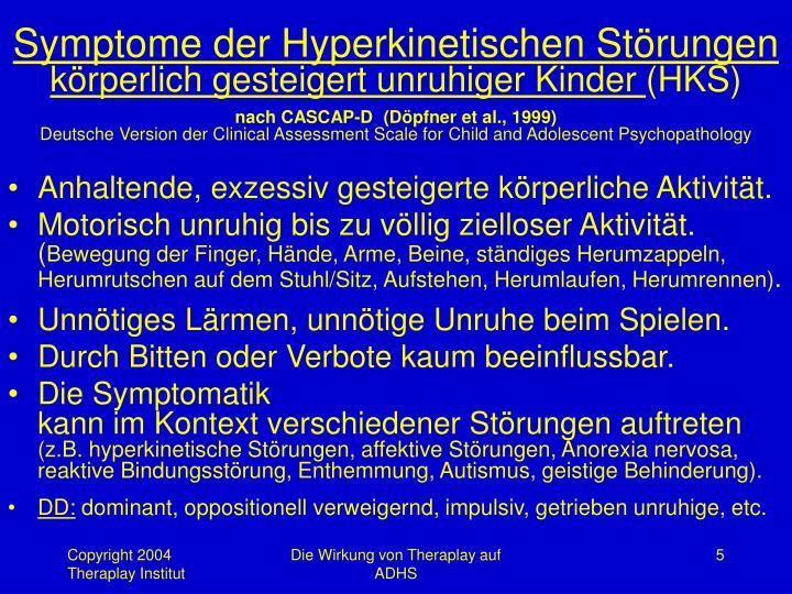 Symptome der Hyperkinetischen Störungen
