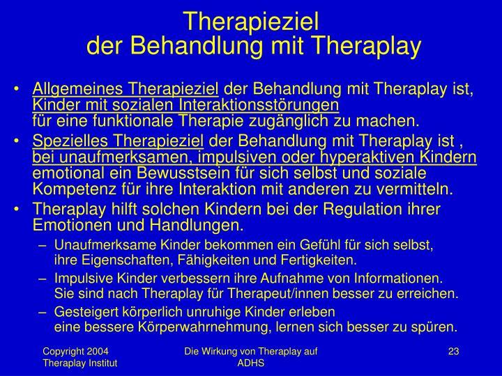 Therapieziel
