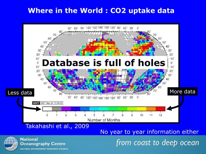 Where in the World : CO2 uptake data
