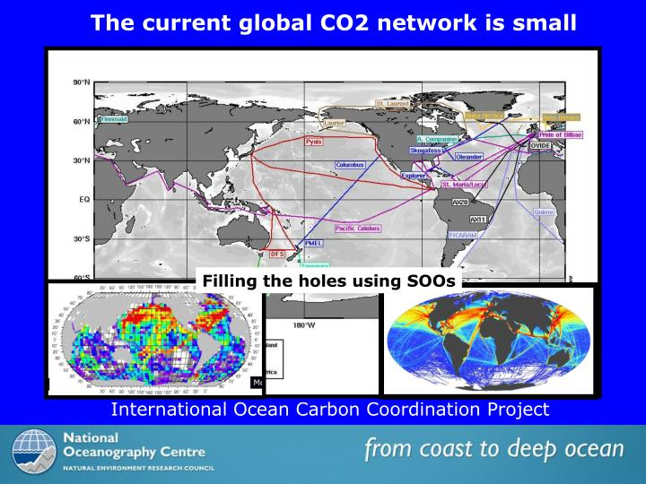 The current global CO2 network is small