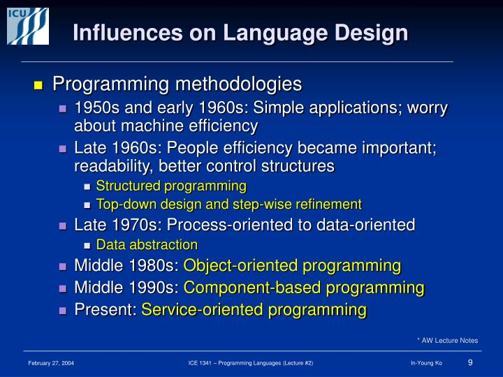 Influences on Language Design