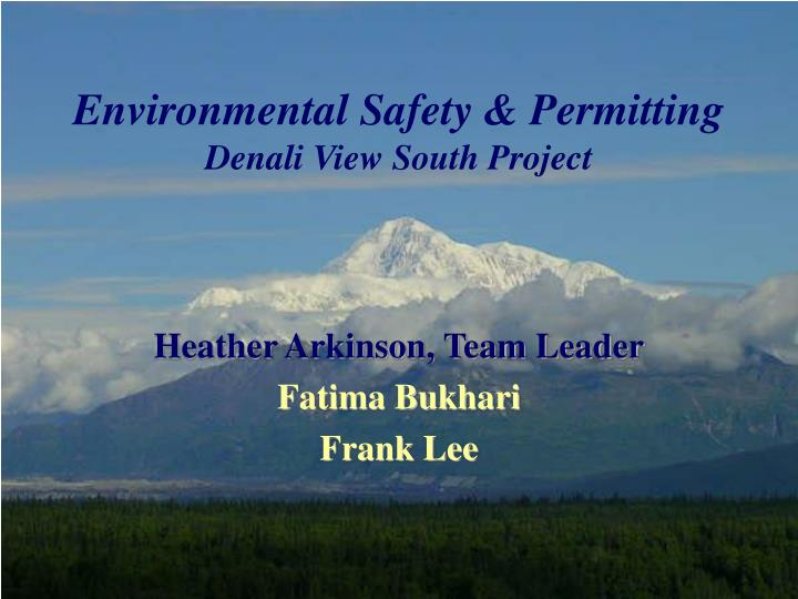 Environmental safety permitting denali view south project