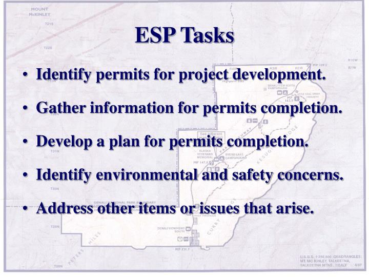 ESP Tasks