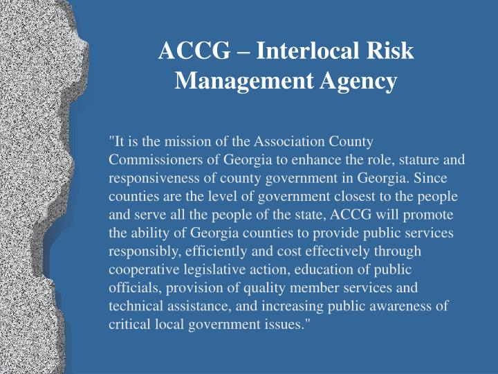 ACCG – Interlocal Risk