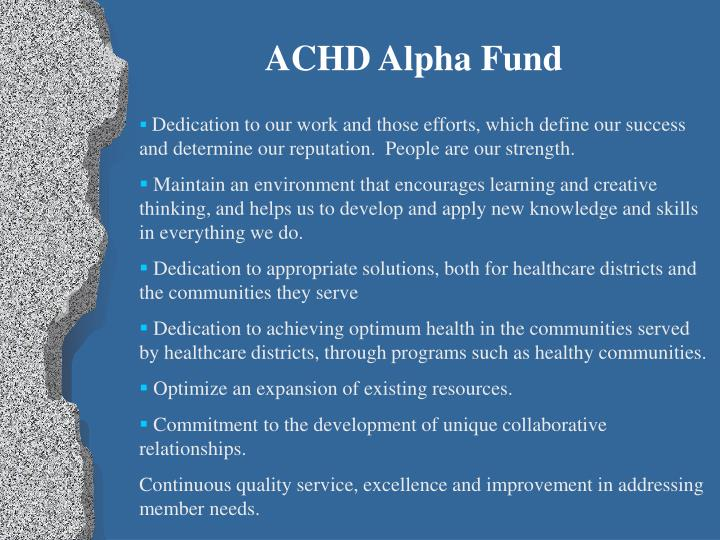 ACHD Alpha Fund