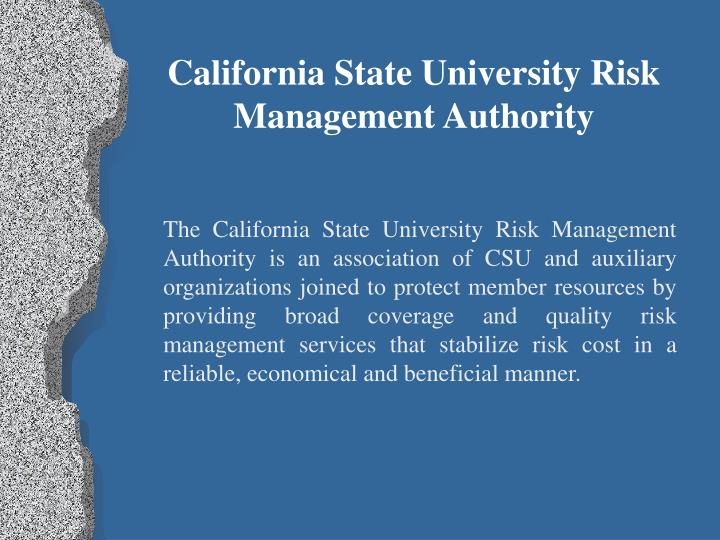 California State University Risk Management Authority
