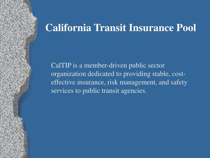 California Transit Insurance Pool