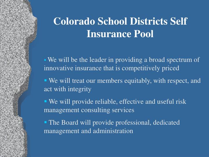 Colorado School Districts Self Insurance Pool