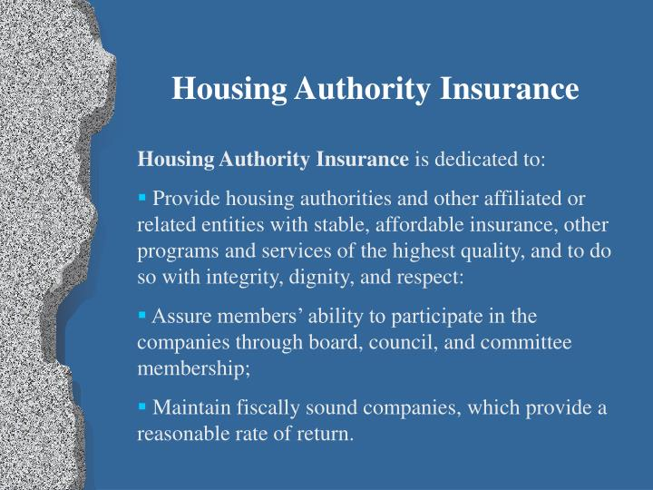 Housing Authority Insurance