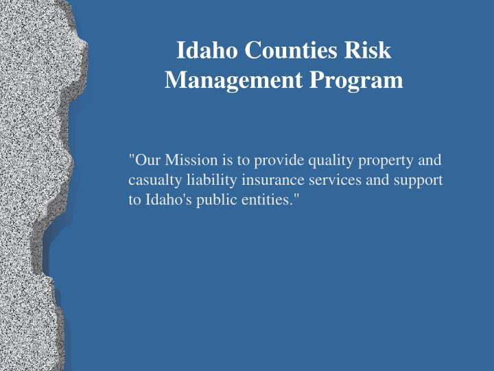 Idaho Counties Risk