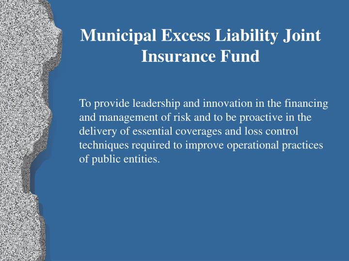 Municipal Excess Liability Joint Insurance Fund