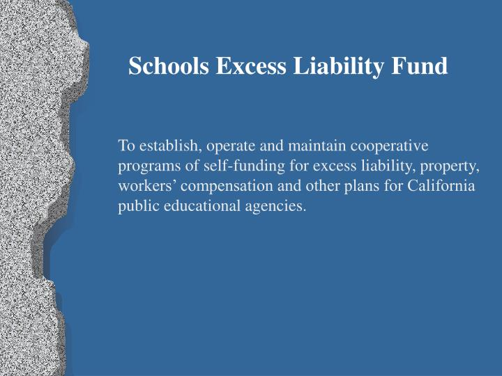 Schools Excess Liability Fund