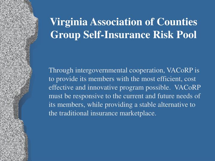 Virginia Association of Counties Group Self-Insurance Risk Pool