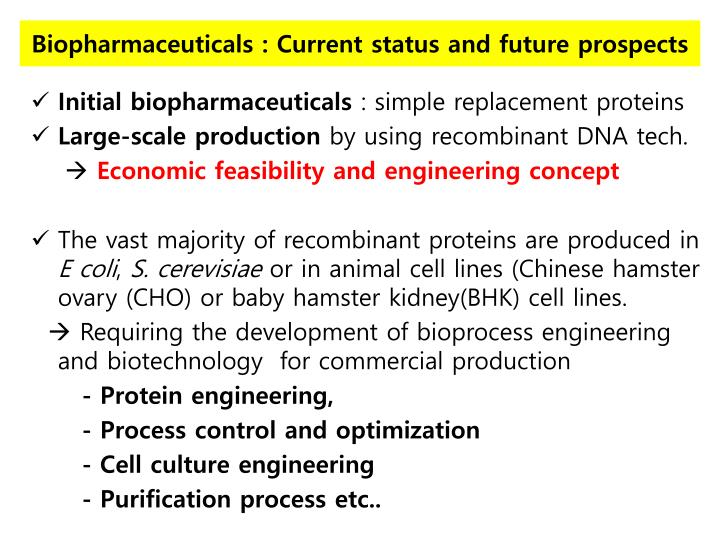Biopharmaceuticals : Current status and future prospects