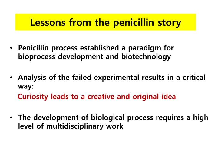 Lessons from the penicillin story