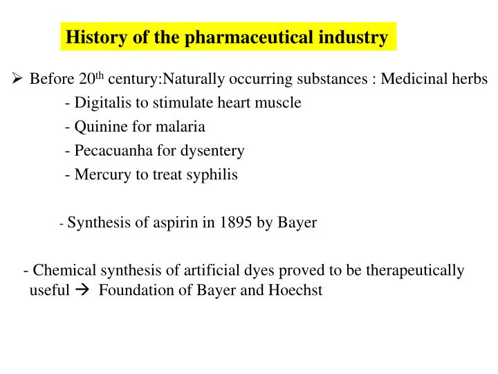 History of the pharmaceutical industry