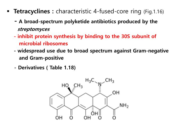 Tetracyclines :