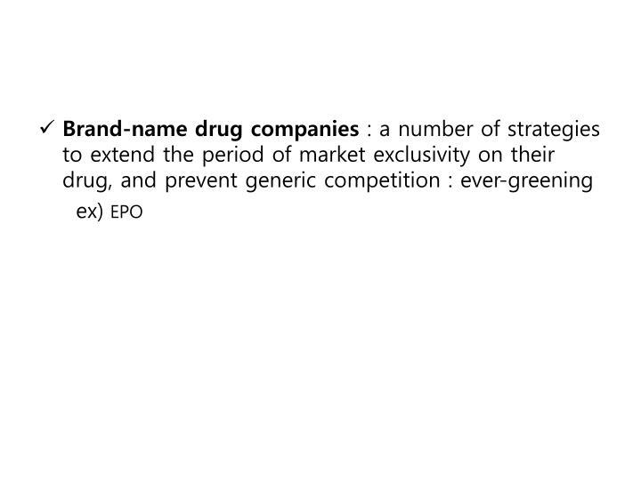 Brand-name drug companies
