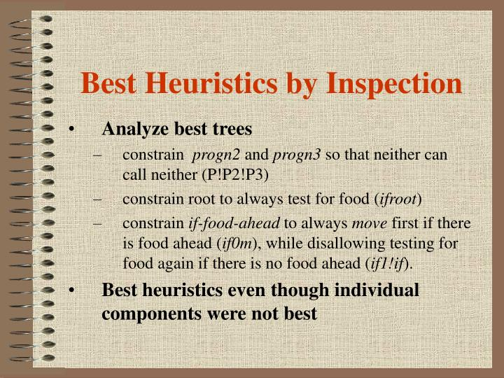 Best Heuristics by Inspection