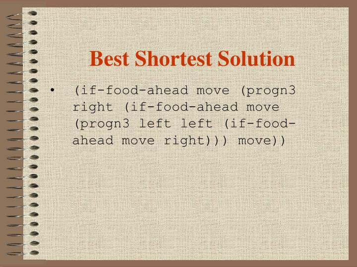 Best Shortest Solution