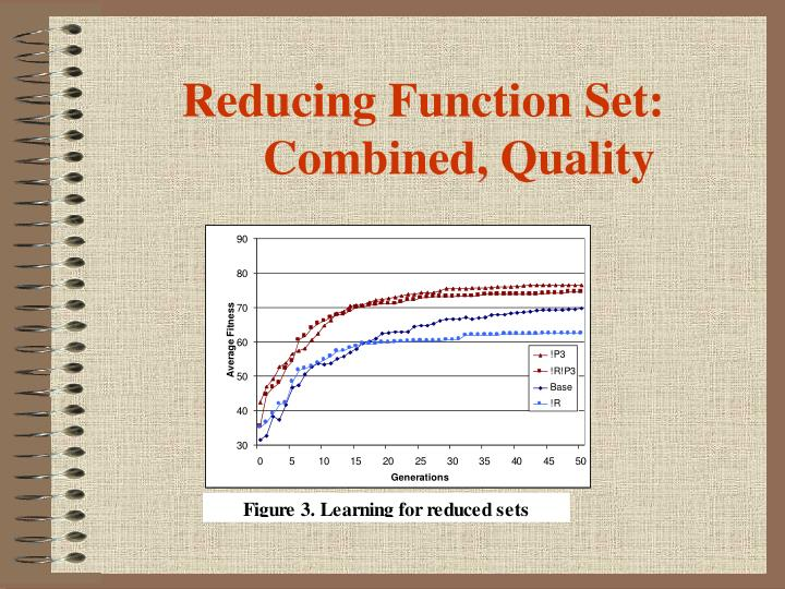Reducing Function Set: Combined, Quality