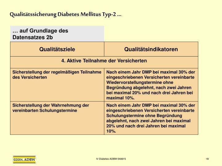 Qualitätssicherung Diabetes Mellitus Typ-2 …