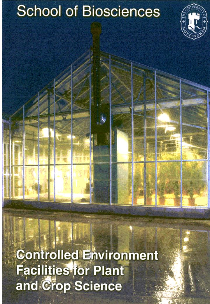 Directly in soil and in containers and 52 controlled environment rooms and cabinets