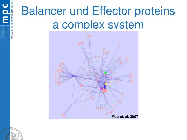 Balancer und Effector proteins