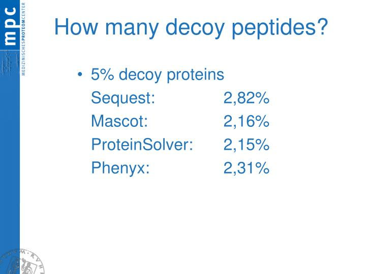 How many decoy peptides?