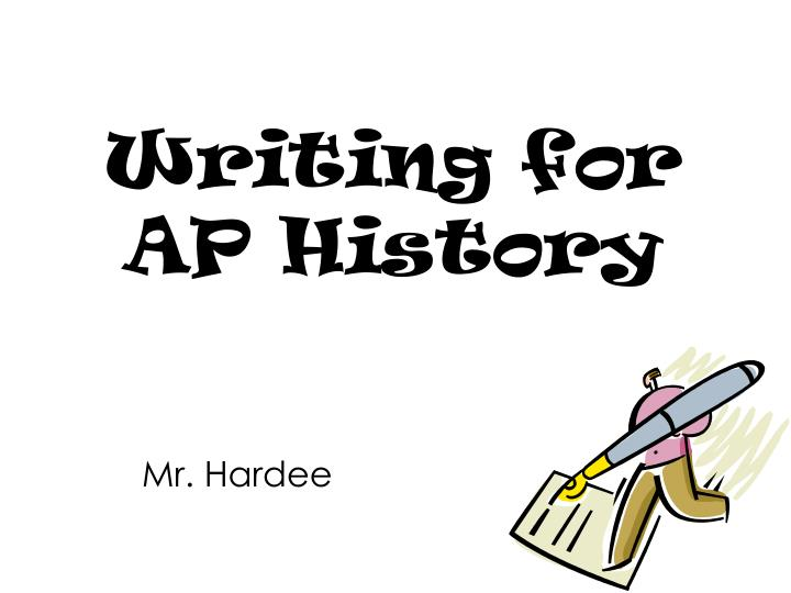 Writing for ap history