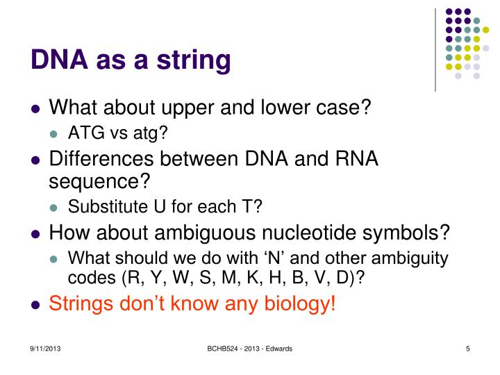 DNA as a string
