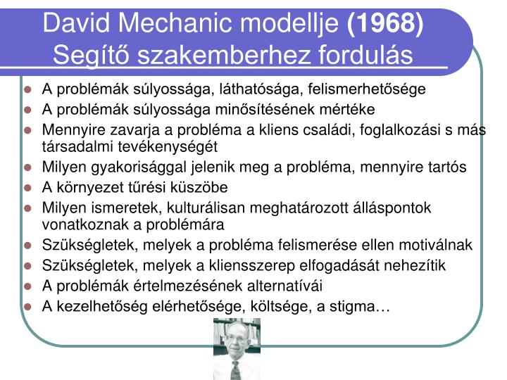 David Mechanic modellje