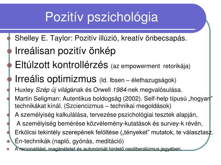 Pozitív pszichológia