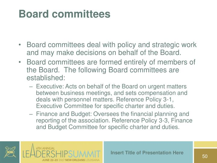 Board committees