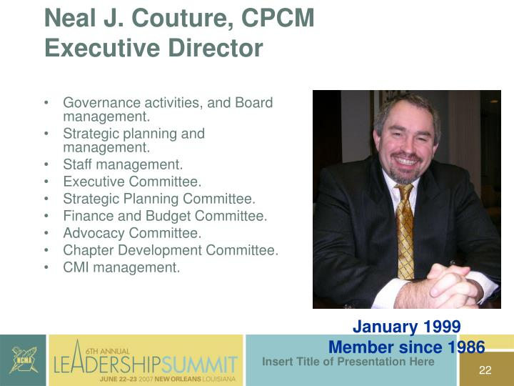 Neal J. Couture, CPCM