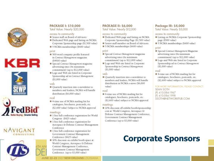 Corporate Sponsors