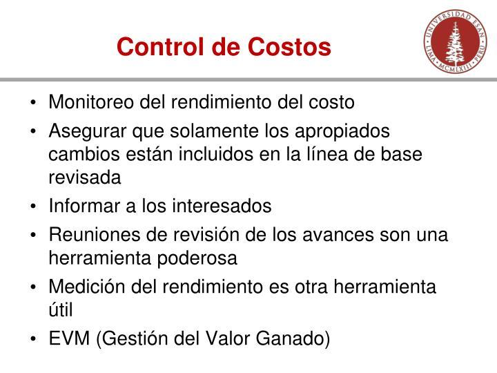 Control de Costos