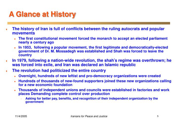A Glance at History