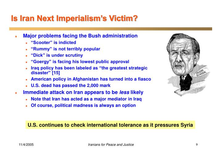 Is Iran Next Imperialism's Victim?