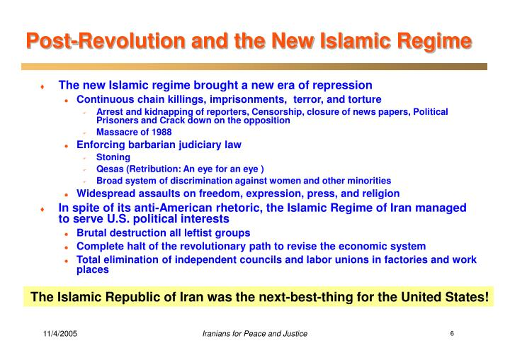 Post-Revolution and the New Islamic Regime