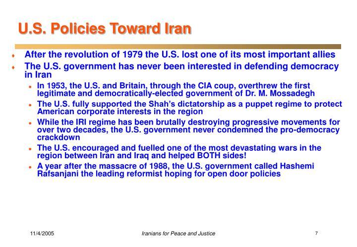 U.S. Policies Toward Iran