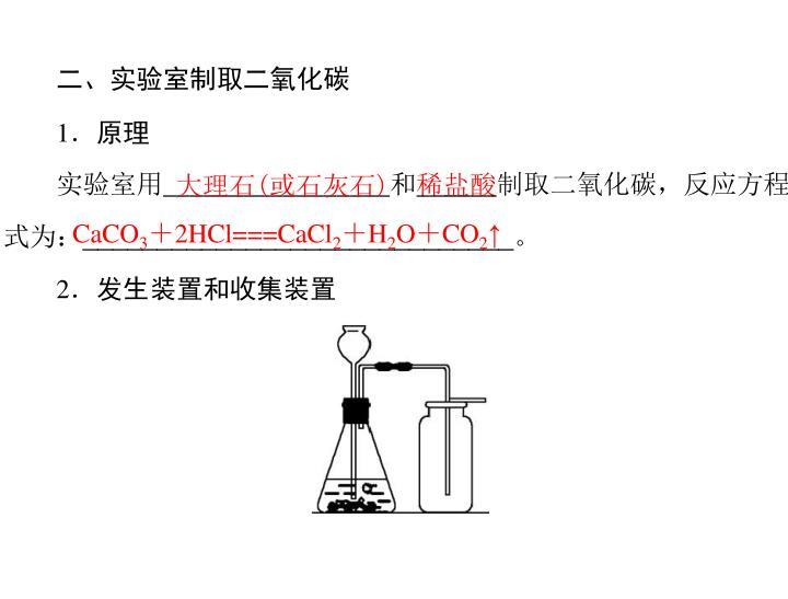 二、实验室制取二氧化碳