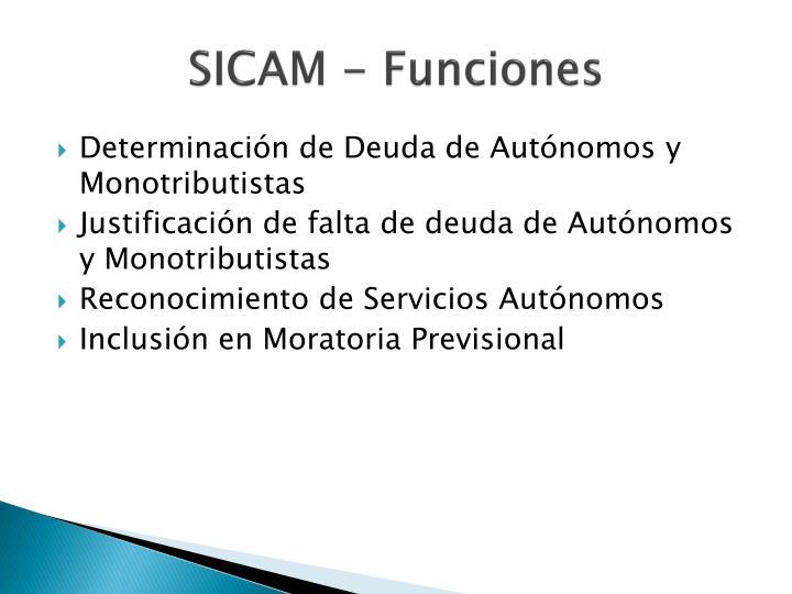 SICAM - Funciones