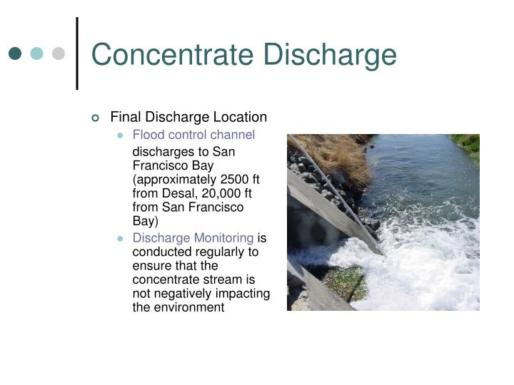 Concentrate Discharge