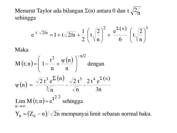Menurut Taylor ada bilangan