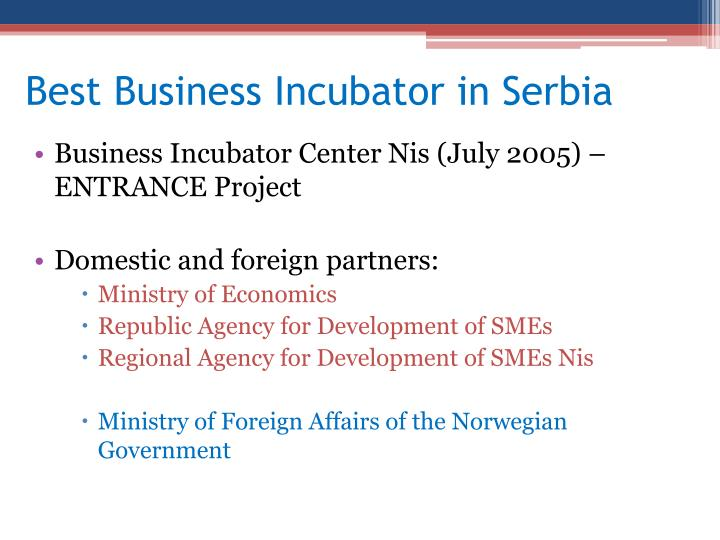 Best Business Incubator in Serbia
