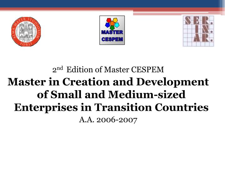 2 nd edition of master cespem