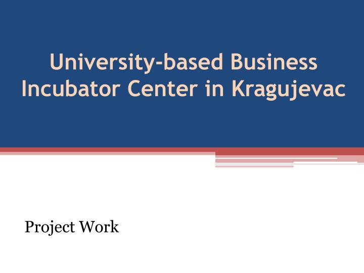 University-based Business Incubator Center in Kragujevac